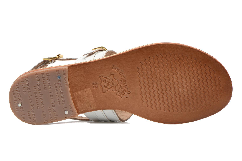 Sandales et nu-pieds Les Tropéziennes par M Belarbi Bebop Blanc vue haut
