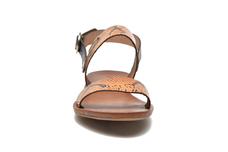 Sandales et nu-pieds Les Tropéziennes par M Belarbi Biniou Marron vue portées chaussures