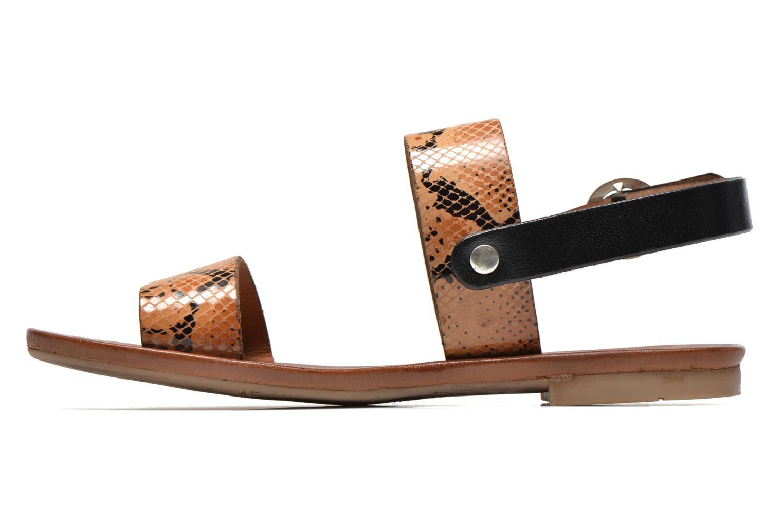 Sandales et nu-pieds Les Tropéziennes par M Belarbi Biniou Marron vue face