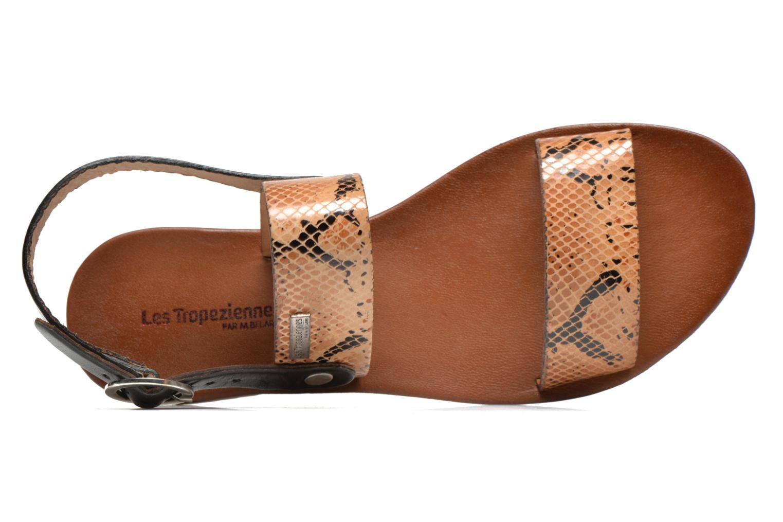 Sandales et nu-pieds Les Tropéziennes par M Belarbi Biniou Marron vue gauche