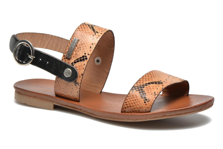 Sandales et nu-pieds Les Tropéziennes par M Belarbi Biniou Marron vue détail/paire
