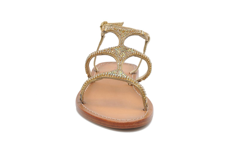 Sandales et nu-pieds Les Tropéziennes par M Belarbi Louise Or et bronze vue portées chaussures