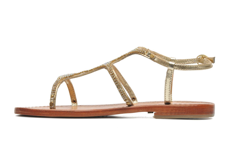 Sandales et nu-pieds Les Tropéziennes par M Belarbi Louise Or et bronze vue face