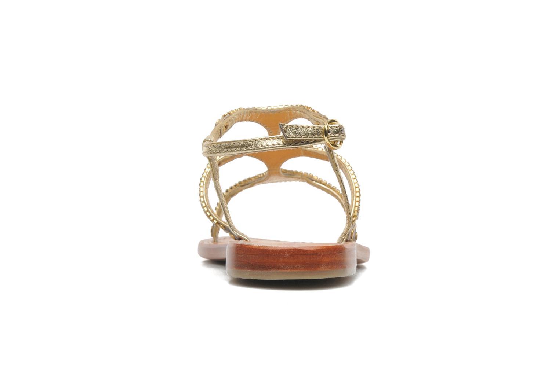 Sandales et nu-pieds Les Tropéziennes par M Belarbi Louise Or et bronze vue droite