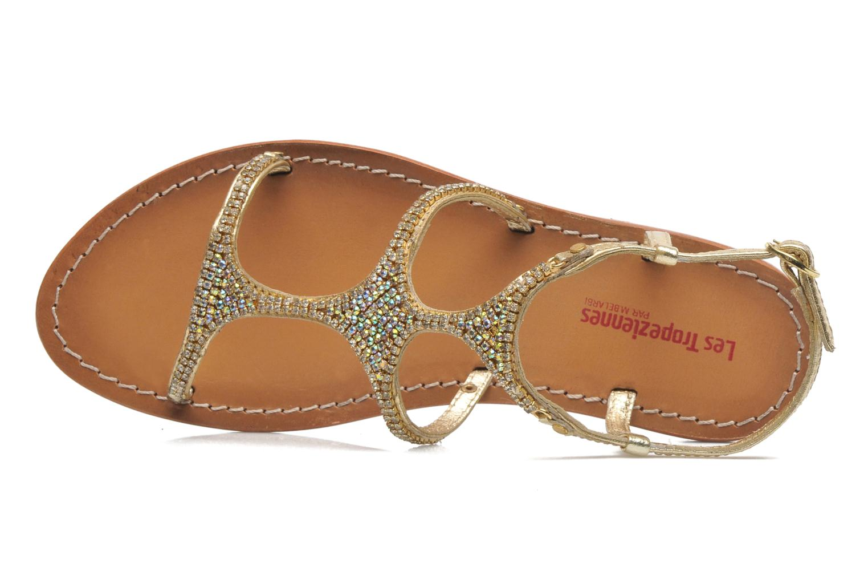 Sandales et nu-pieds Les Tropéziennes par M Belarbi Louise Or et bronze vue gauche
