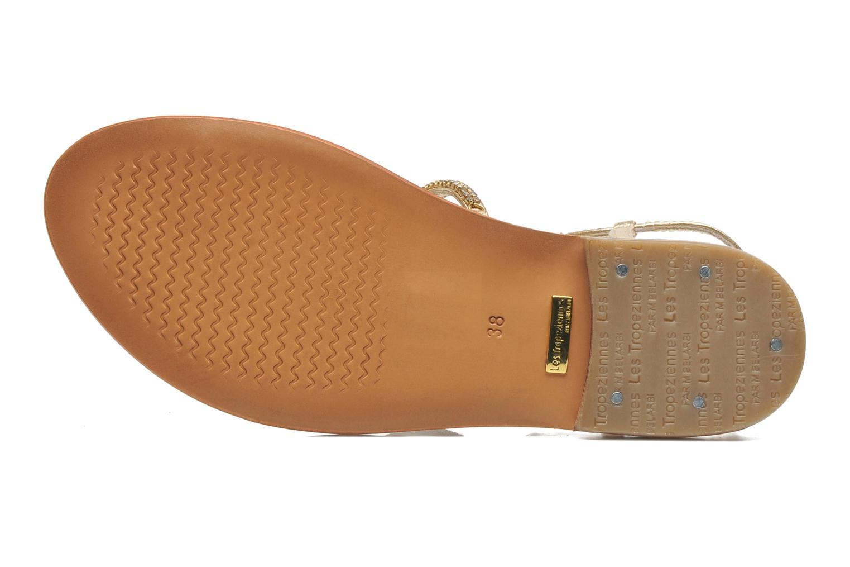 Sandales et nu-pieds Les Tropéziennes par M Belarbi Louise Or et bronze vue haut