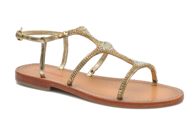 Sandales et nu-pieds Les Tropéziennes par M Belarbi Louise Or et bronze vue détail/paire