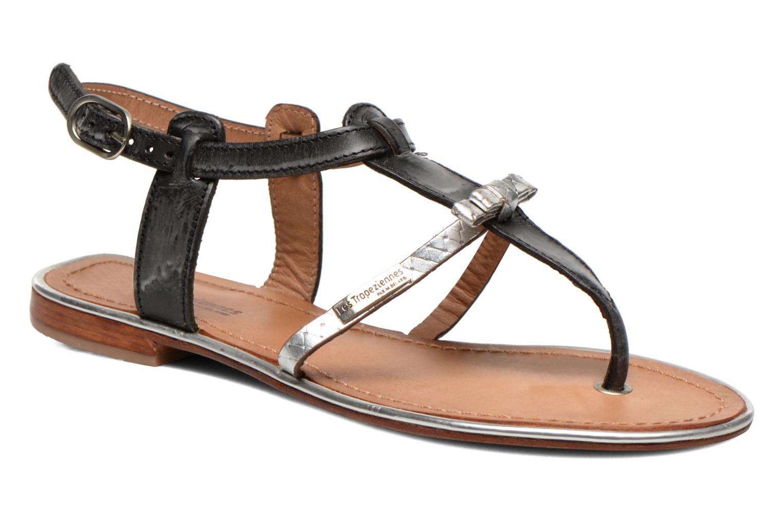 Sandales et nu-pieds Les Tropéziennes par M Belarbi Bantou Noir vue détail/paire