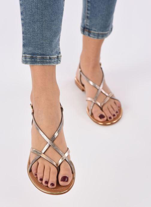 Sandales et nu-pieds Les Tropéziennes par M Belarbi Monaco Multicolore vue bas / vue portée sac