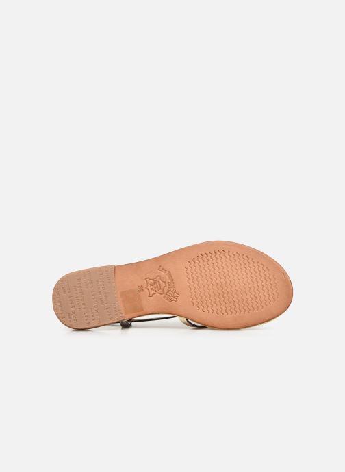 Sandales et nu-pieds Les Tropéziennes par M Belarbi Monaco Or et bronze vue haut