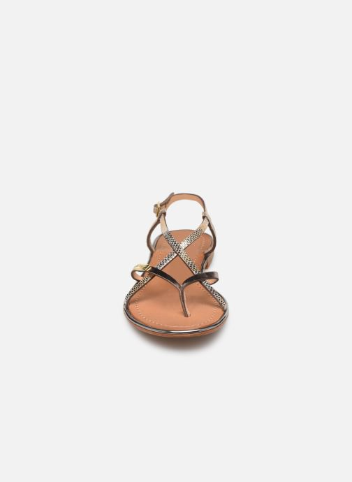 Sandales et nu-pieds Les Tropéziennes par M Belarbi Monaco Or et bronze vue portées chaussures