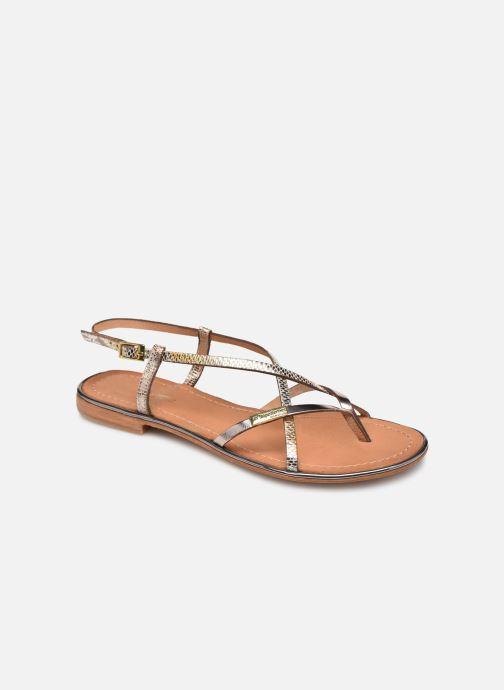 Sandales et nu-pieds Les Tropéziennes par M Belarbi Monaco Or et bronze vue détail/paire