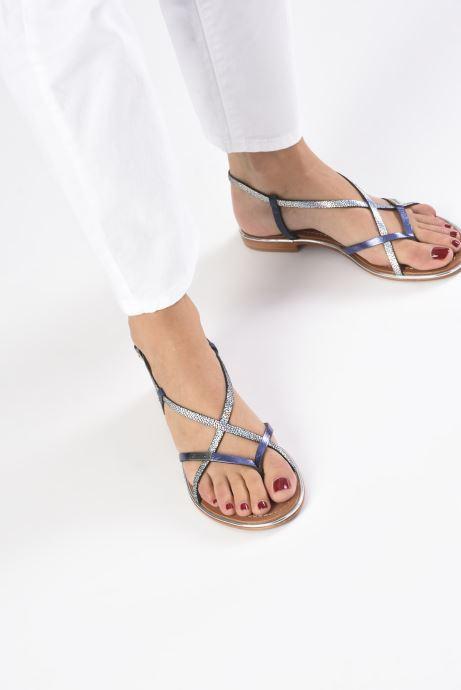 Sandales et nu-pieds Les Tropéziennes par M Belarbi Monaco Argent vue bas / vue portée sac