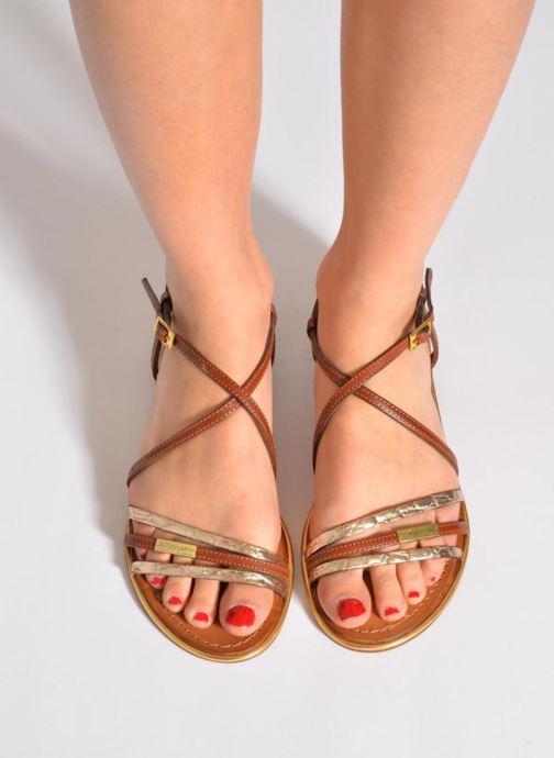 Sandales et nu-pieds Les Tropéziennes par M Belarbi Balise Noir vue bas / vue portée sac