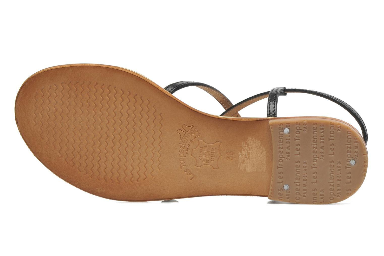 Sandales et nu-pieds Les Tropéziennes par M Belarbi Balise Noir vue haut