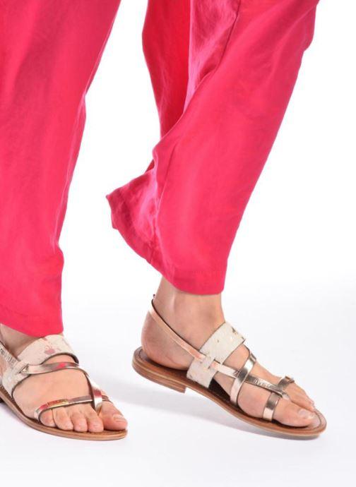 Sandales et nu-pieds Les Tropéziennes par M Belarbi Baule Marron vue bas / vue portée sac
