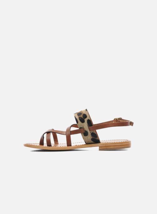 Sandales et nu-pieds Les Tropéziennes par M Belarbi Baule Marron vue face