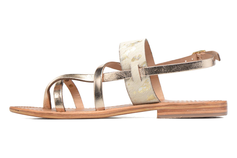 Sandals Les Tropéziennes par M Belarbi Baule Bronze and Gold front view