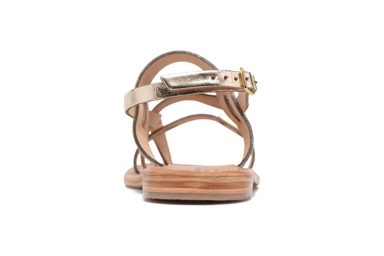 Sandals Les Tropéziennes par M Belarbi Baule Bronze and Gold view from the right