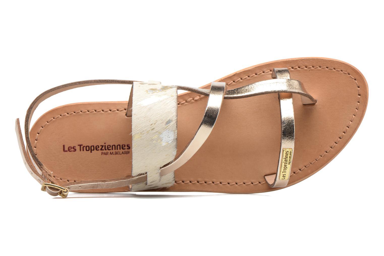 Sandals Les Tropéziennes par M Belarbi Baule Bronze and Gold view from the left