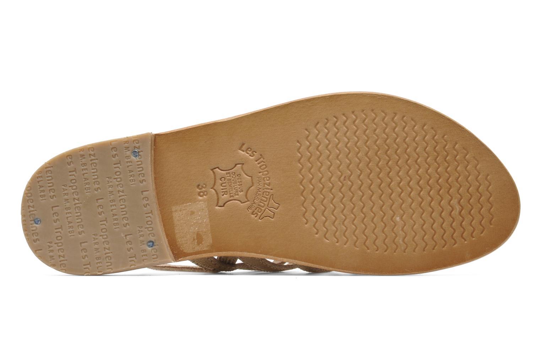 Sandales et nu-pieds Les Tropéziennes par M Belarbi Brillant Or et bronze vue haut