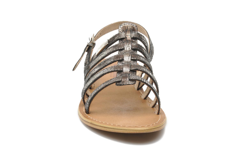 Sandales et nu-pieds Les Tropéziennes par M Belarbi Brillant Argent vue portées chaussures