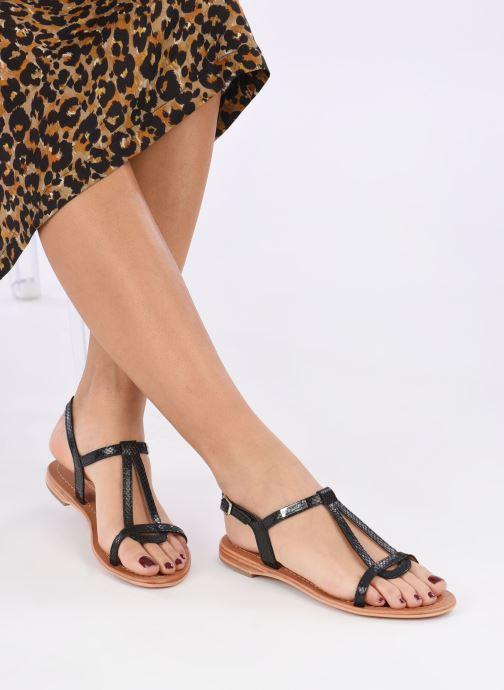 Sandalen Les Tropéziennes par M Belarbi Hamat schwarz ansicht von unten / tasche getragen