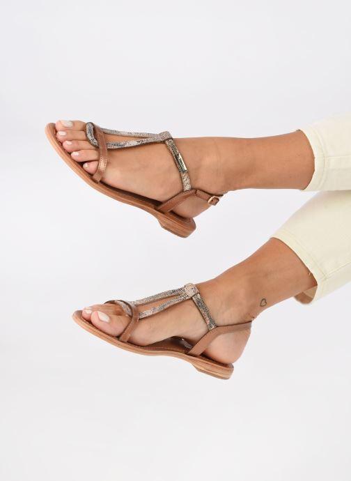Sandales et nu-pieds Les Tropéziennes par M Belarbi Hamat Or et bronze vue bas / vue portée sac