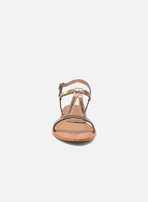Sandales et nu-pieds Les Tropéziennes par M Belarbi Hamat Or et bronze vue portées chaussures