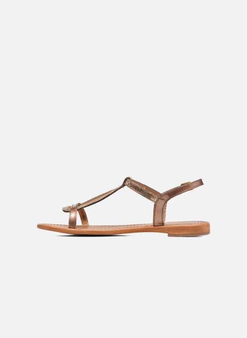 Sandales et nu-pieds Les Tropéziennes par M Belarbi Hamat Or et bronze vue face