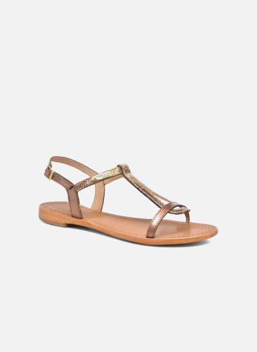 Sandales et nu-pieds Les Tropéziennes par M Belarbi Hamat Or et bronze vue détail/paire