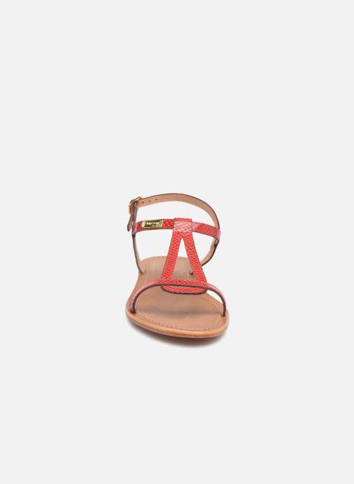 Sandales et nu-pieds Les Tropéziennes par M Belarbi Hamat Rouge vue portées chaussures