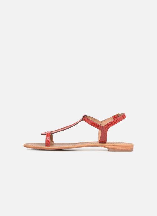 Sandales et nu-pieds Les Tropéziennes par M Belarbi Hamat Rouge vue face