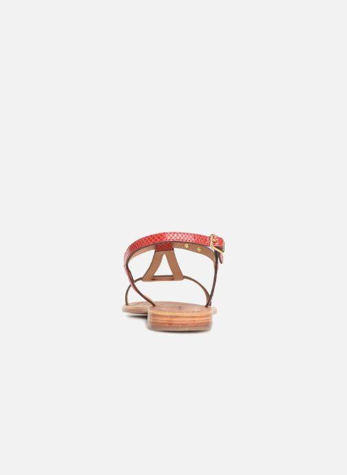 Sandales et nu-pieds Les Tropéziennes par M Belarbi Hamat Rouge vue droite
