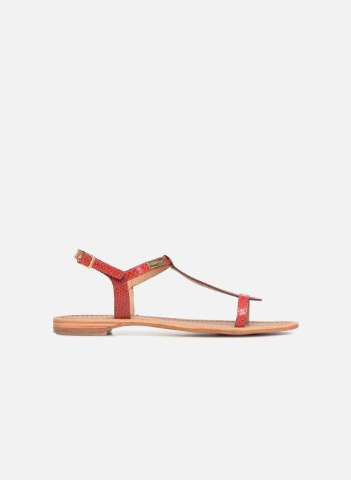 Sandales et nu-pieds Les Tropéziennes par M Belarbi Hamat Rouge vue derrière