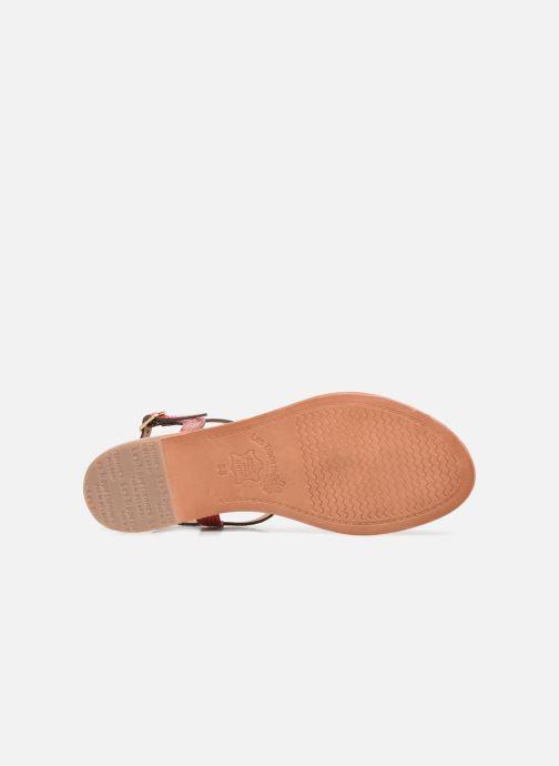 Sandales et nu-pieds Les Tropéziennes par M Belarbi Hamat Rouge vue haut