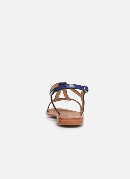 Sandalias Les Tropéziennes par M Belarbi Hamat Azul vista lateral derecha