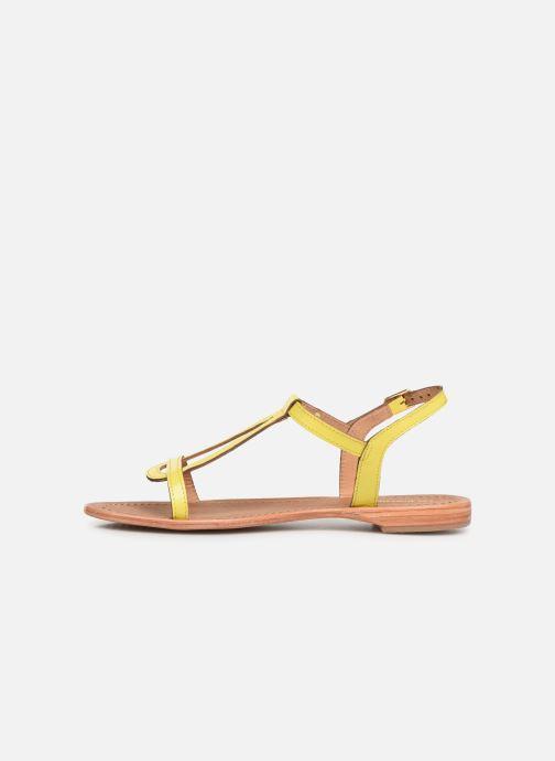 Sandales et nu-pieds Les Tropéziennes par M Belarbi Hamat Jaune vue face