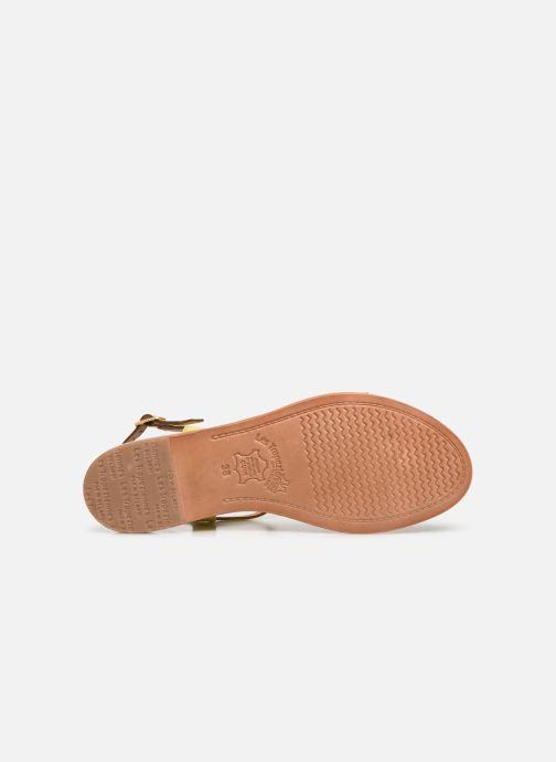 Sandales et nu-pieds Les Tropéziennes par M Belarbi Hamat Jaune vue haut
