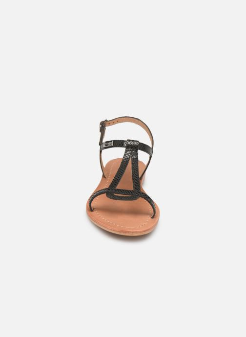 Sandales et nu-pieds Les Tropéziennes par M Belarbi Hamat Noir vue portées chaussures
