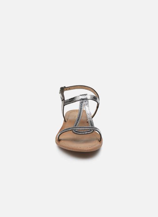 Sandales et nu-pieds Les Tropéziennes par M Belarbi Hamat Argent vue portées chaussures