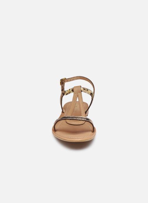 Sandales et nu-pieds Les Tropéziennes par M Belarbi Hamat Marron vue portées chaussures
