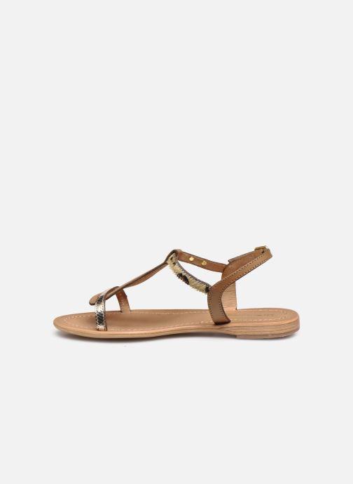 Sandales et nu-pieds Les Tropéziennes par M Belarbi Hamat Marron vue face