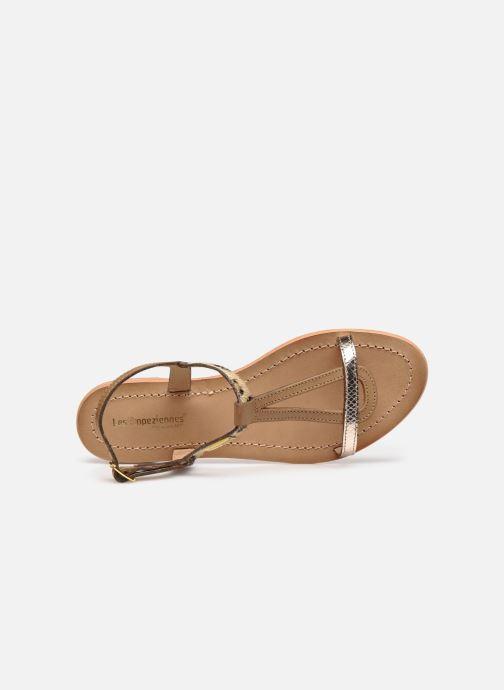 Sandales et nu-pieds Les Tropéziennes par M Belarbi Hamat Marron vue gauche