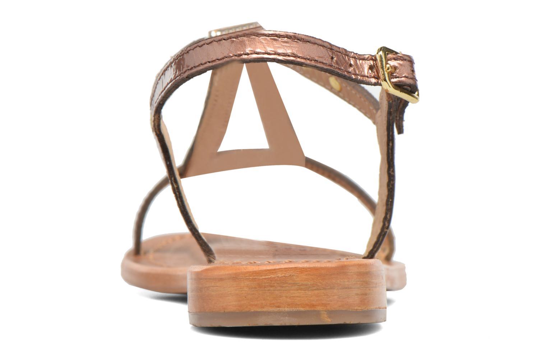 Sandales et nu-pieds Les Tropéziennes par M Belarbi Hamat Or et bronze vue droite