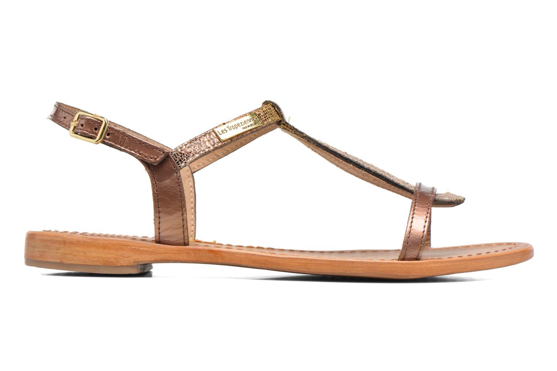 Sandales et nu-pieds Les Tropéziennes par M Belarbi Hamat Or et bronze vue derrière