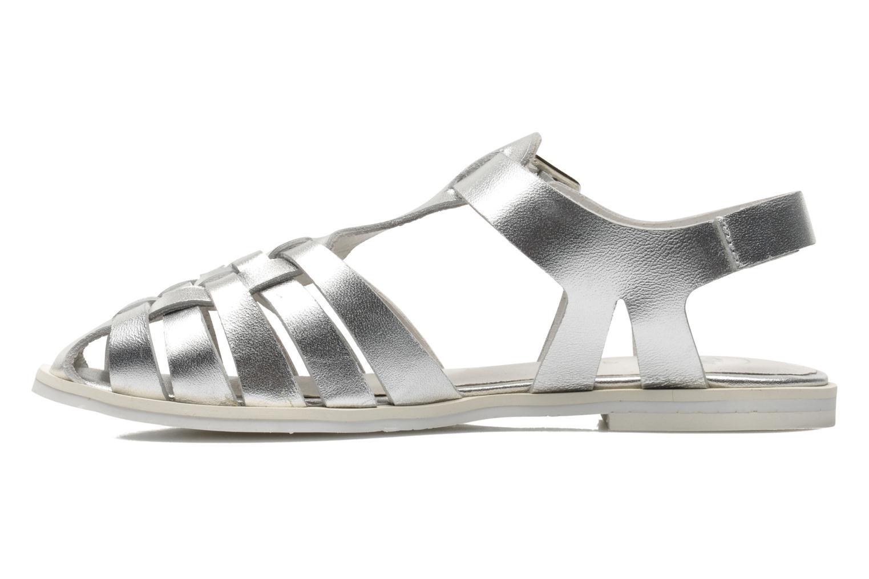 Sandales et nu-pieds Yep Bernice Argent vue face