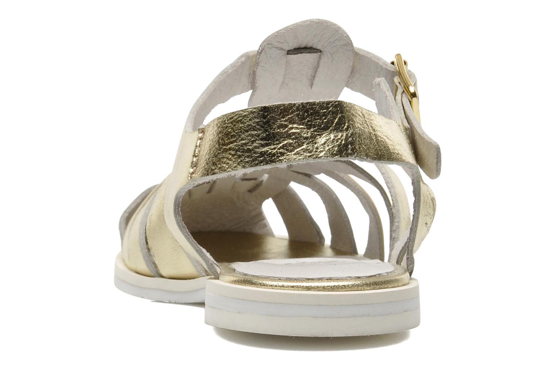 Sandales et nu-pieds Yep Bernice Or et bronze vue droite