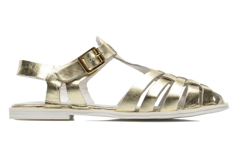 Sandales et nu-pieds Yep Bernice Or et bronze vue derrière