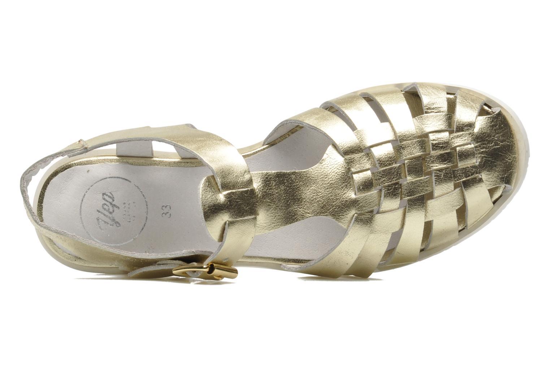 Sandales et nu-pieds Yep Bernice Or et bronze vue gauche